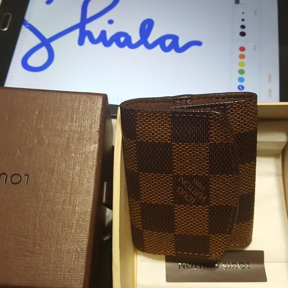 Louis Vuitton Handbags - Authentic LV Cuff Link holder Damier Ebene